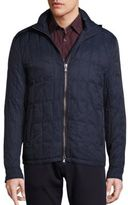 John Varvatos Quilted Elbow Patch Jacket