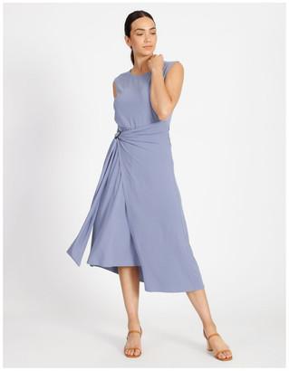 Basque Sarong Jersey Dress