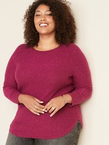 Old Navy Textured-Stitch Boat-Neck Plus-Size Tunic Sweater