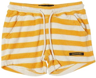 Finger In The Nose Striped Cotton Terry Shorts