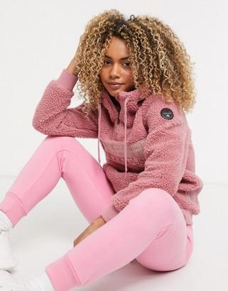 Napapijri TEIDE 2 hoodie in pink blush