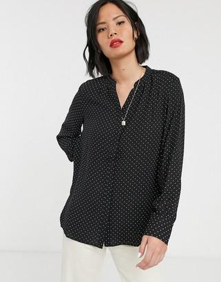 Selected Amina long sleeve shirt-Black