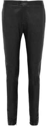 Bassike Leather Skinny Pants