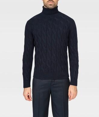 Larusmiani Cable Knit Turtleneck Sweater col Du Pillon