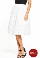 Rare 3D Floral Mesh Tutu Skirt - White