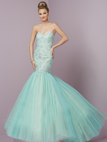 Tiffany Designs - 46088 Strapless Embellished Mermaid Gown