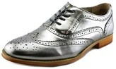 Wanted Babe Women Wingtip Toe Synthetic Silver Oxford.