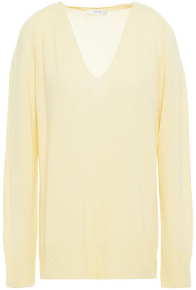 Vince Melange Wool And Cashmere-blend Sweater