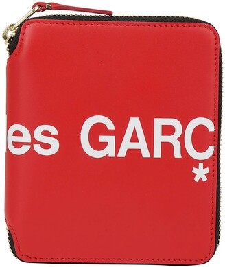Comme des Garcons Logo Zip-Around Wallet