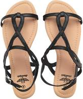 Board Angels Womens Strappy Sandals Black