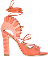 Paula Cademartori Lotus sandals - women - Nappa Leather/Calf Suede/Leather - 36