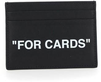 Off-White Calf Skin Quote Cardholder