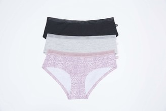 Jessica Simpson Women's Cotton Hipster Panties Underwear Multi-Pack