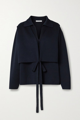 LE 17 SEPTEMBRE Convertible Layered Knitted Jacket - Navy