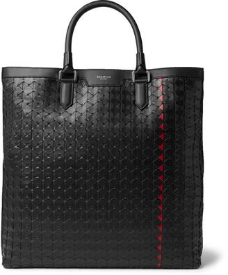 SERAPIAN Mosaico Leather Tote Bag