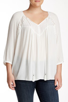 Daniel Rainn Triple Mix Media Blouse (Plus Size)