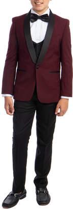 Perry Ellis 3Pc Tuxedo, Vest & Pant Set