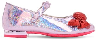 Sophia Webster Bonbon Glittered Leather Mary-Jane Shoes