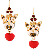Dolce & Gabbana dog charm earrings