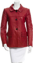 Derek Lam Pointed Collar Leather Jacket