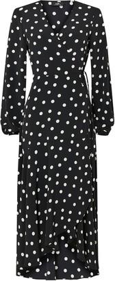 Wallis Monochrome Spot Print Midi Dress