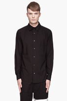 Y-3 Black Zip-collared Shirt