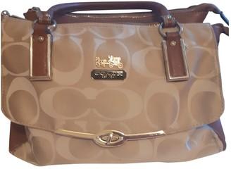 Coach Crossgrain Kitt Carry All Beige Cloth Handbags