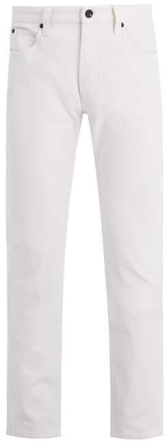 Giorgio Armani Mid-rise straight-leg stretch-denim jeans