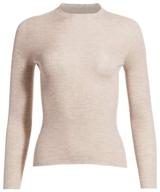Akris Fine Ribbed Cashmere & Silk Top