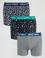 Jack & Jones Trunks 3 Pack Printed