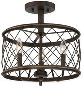 Quoizel Dury Small 3-Light Semi-Flush Mount Ceiling Fixture in Palladian Bronze