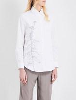 Jil Sander Floral-embroidered cotton shirt