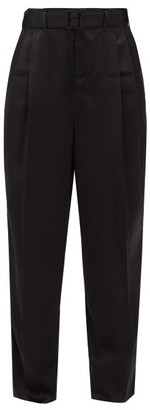 Lemaire Pleated Satin Trousers - Black