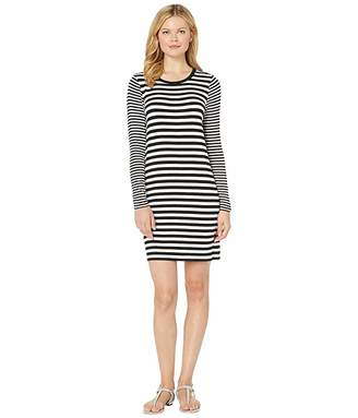 MICHAEL Michael Kors Cranberry Stripe Long Sleeve Dress