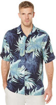 Cubavera Big & Tall Short Sleeve Window Pane Tropical Print Shirt