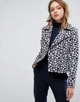 Helene Berman Starry Wool Mix Biker Jacket
