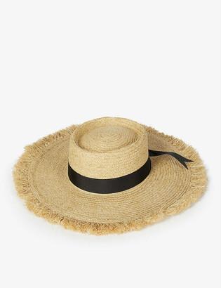 LACK OF COLOR Ventura raffia straw boater hat