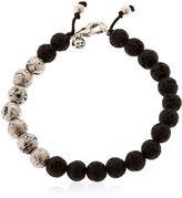 Manuel Bozzi Magma Silver & Lava Beaded Bracelet
