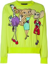 Moschino cartoon print sweatshirt - women - Polyester/Spandex/Elastane - 48