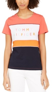 Tommy Hilfiger Cotton Colorblocked Graphic T-Shirt