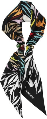 Missoni Printed Silk Scarf/ Chain Closure