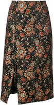Nomia floral jacquard skirt