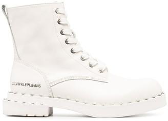 Calvin Klein Jeans Lace-Up Combat Boots