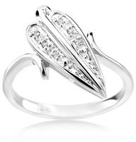 Summerrose Jewelry Summer Rose 14k White Gold 0.03ct Fashion Diamond Ring
