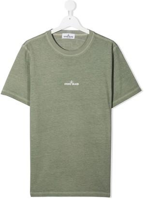 Stone Island Junior TEEN rear logo print T-shirt