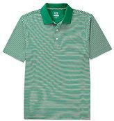 Cutter & Buck Golf Drytec Trevor Horizontal Stripe Polo Shirt