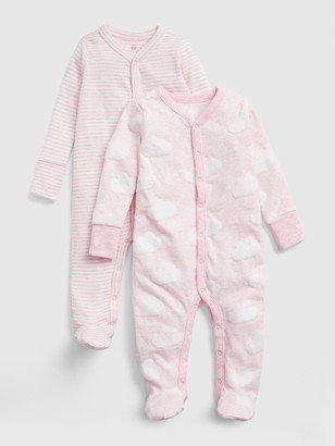 Gap Baby Print Footed One-Piece (2-Pack)