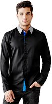GUESS Lincoln Color-Block Slim-Fit Shirt