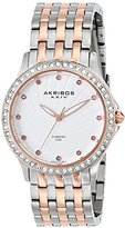 Akribos XXIV Women's AK620TT Lady Diamond Two-Tone Swiss Quartz Watch