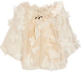 Reem Acra - Off-the-shoulder Floral-appliquéd Silk-organza Top - Blush